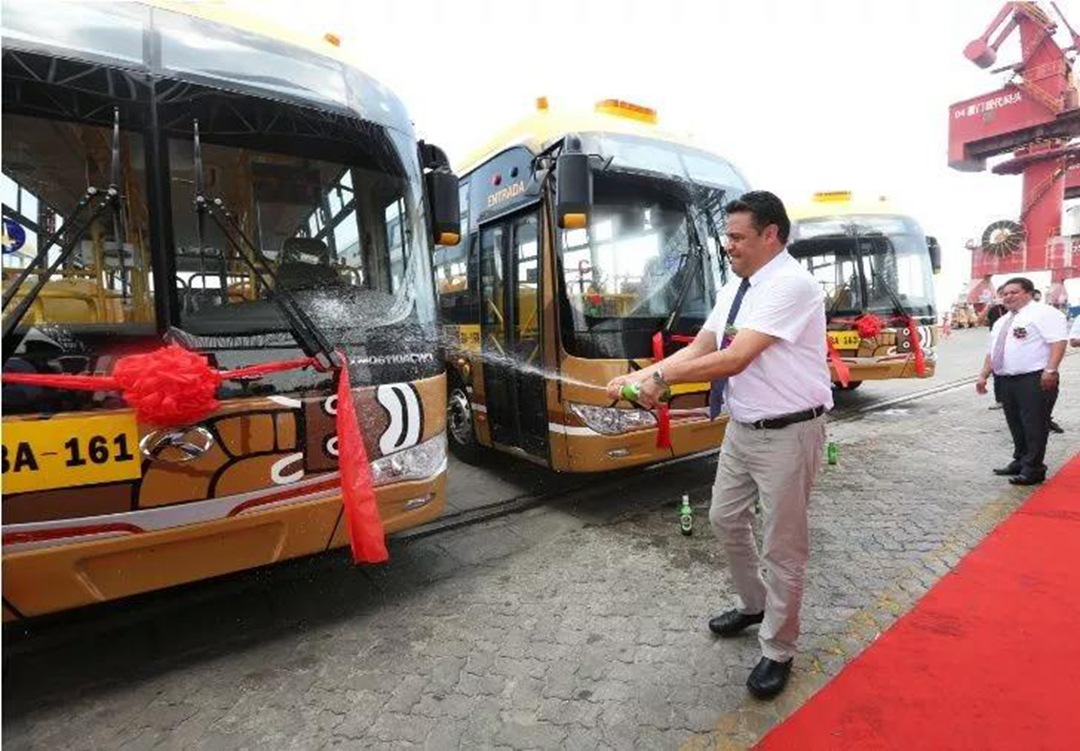 kinglong bus in Bolivia